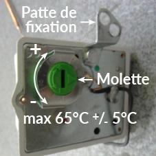 La temp rature de l 39 eau d 39 un chauffe eau lectrique est elle r glable thermor assistance - Temperature ideale chauffe eau ...